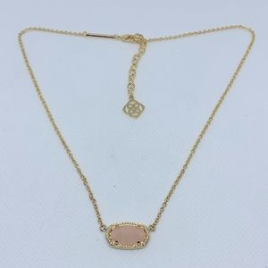 Kendra Scott Elisa Gold Necklace Rose Quartz
